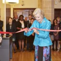 HRH Princess Alexandra cutting the ribbon to open the exhibition (credit: Kevin Leighton)