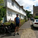 Trowbridge Town Clerk Lance Allan cycled 800 miles between Magna Carta Towns