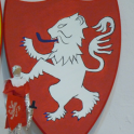 14 - Heraldic shield of the Mowbray Lion