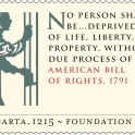 Magna Carta - American Bill of Rights 1791 Stamp