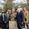 Prof. David Carpenter unveiled the monument