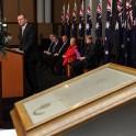 Prime Minister Abbott with Australia's Magna Carta