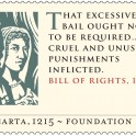 Magna Carta - Bill of Rights 1689 Stamp