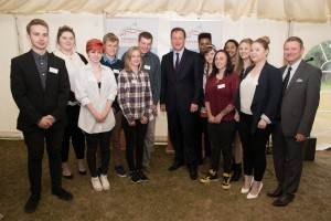 Prime Minister David Cameron saw some elements of Find Your Voice at a tourism event at Cogges Farm, Oxford.